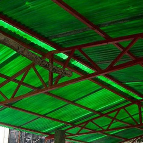 FRP fiberglass Roof Shade and shed6