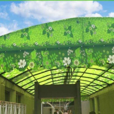 FRP fiberglass Roof Shade and shed7