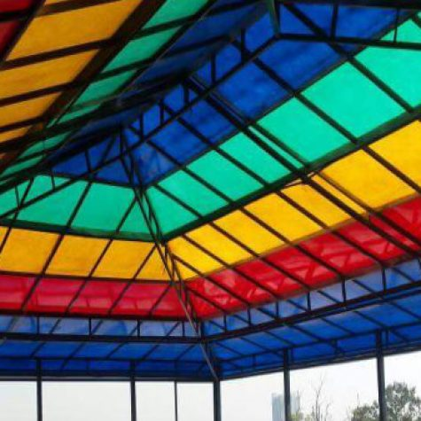 FRP fiberglass Roof Shade and shed8