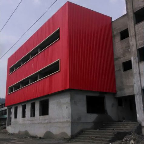 steel-fabrication of House building